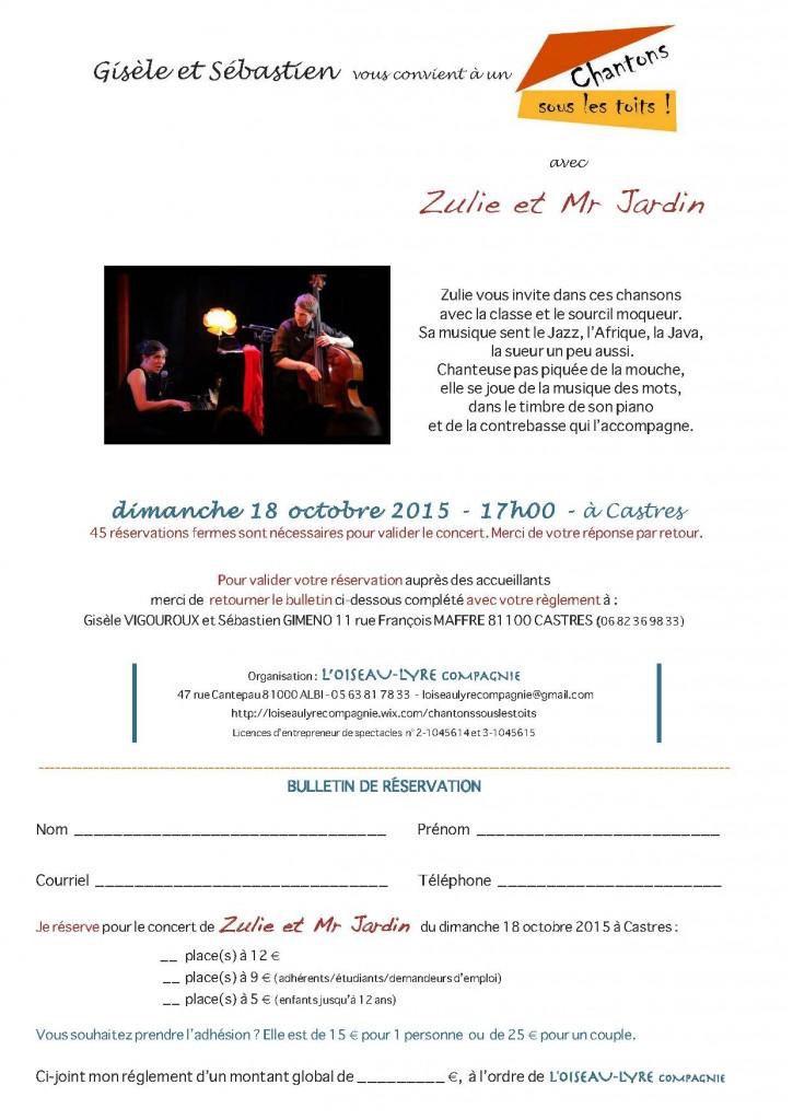 Blog Zulie et Mr Jardin sous le toit de Gisèle et Sébastien à CASTRES - dimanche 18 octobre