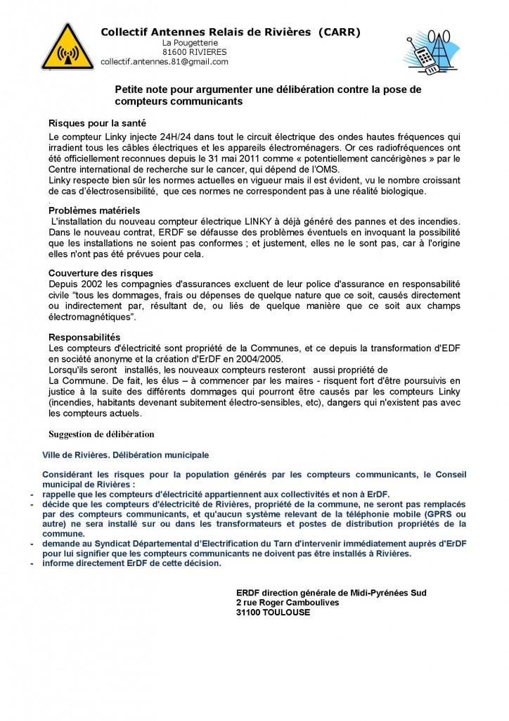 Blog Rivières arguments pour délib