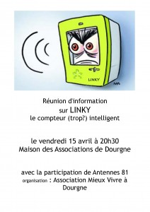 Blog affiche Linky Dourgne