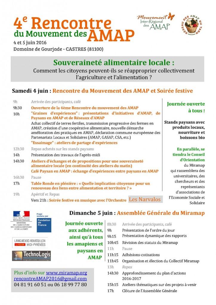 Blog Rencontre Nationale des AMAP Programme 4 et 5 juin 2016v3