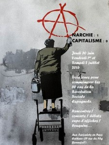 anarchie 1 capitalisme 0 Affiche