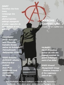 anarchie 1 capitalisme 0 flyer