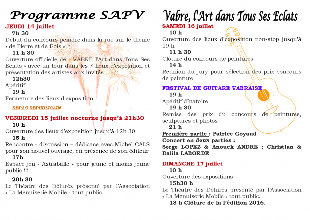 Blog Programme VATSE
