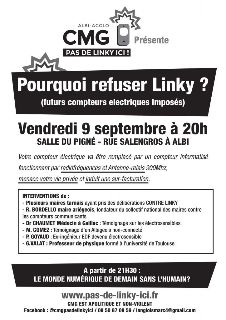 Réunion publique anti linky albi le 9 sept